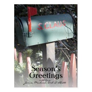 Weihnachtsmann-Briefkasten Postkarte