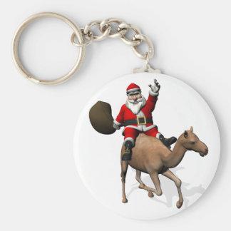 Weihnachtsmann, der ein Kamel reitet Schlüsselband