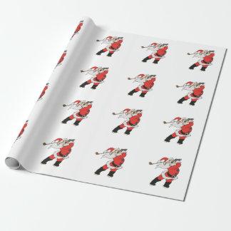 Weihnachtsmann, der Golf spielt Geschenkpapier