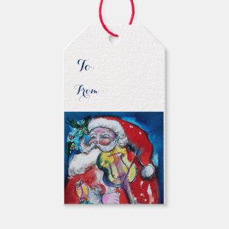WEIHNACHTSMANN, der VIOLINE WeihnachtsParty SPIELT Geschenkanhänger