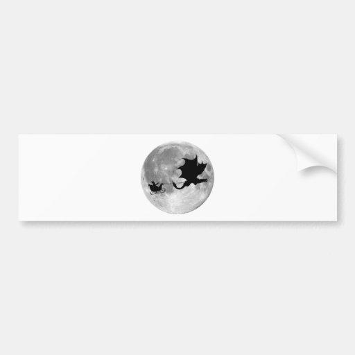 Weihnachtsmann-Drache-Reiter-Pferdeschlitten-Fahrt Auto Sticker
