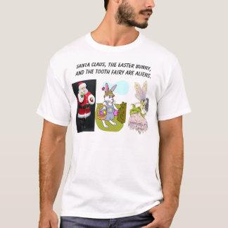Weihnachtsmann, e-Häschen, Zahnfee, Sankt-Cl… T-Shirt