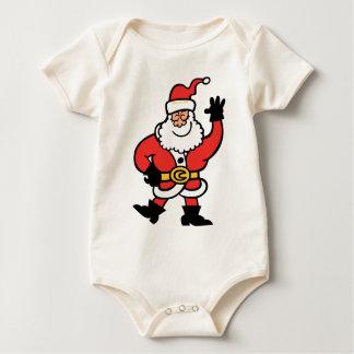 Weihnachtsmann-Grüße Baby Strampler
