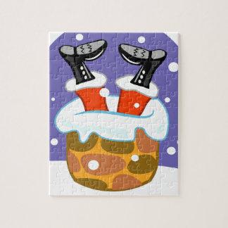 Weihnachtsmann hinunter den Kamin Puzzle