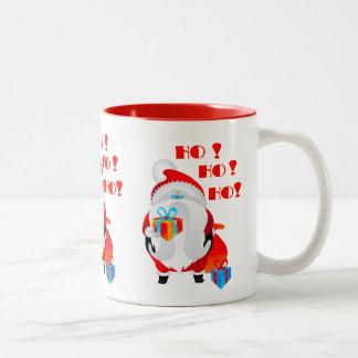 Weihnachtsmann Ho Ho Ho Zweifarbige Tasse