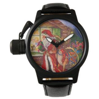 Weihnachtsmann-Illustration - Armbanduhr