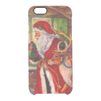 Weihnachtsmann-Illustration - Durchsichtige iPhone 6/6S Hülle