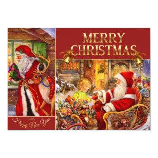 Weihnachtsmann-Illustration - Karte