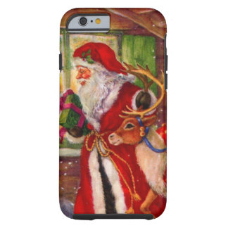 Weihnachtsmann-Illustration - Tough iPhone 6 Hülle