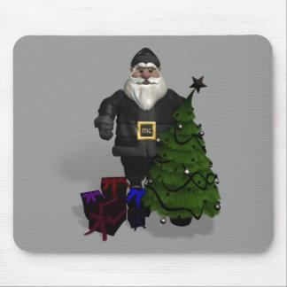 Weihnachtsmann im schwarzen Leder Mousepad