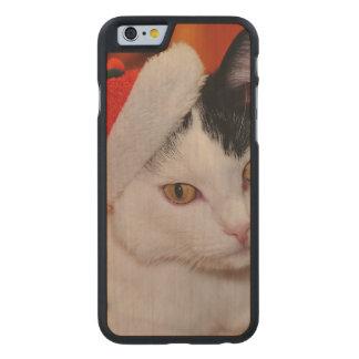 Weihnachtsmann-Katze - frohe Weihnachten - pet Carved® iPhone 6 Hülle Ahorn