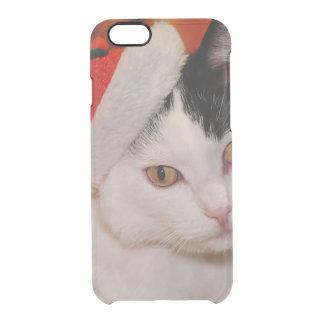 Weihnachtsmann-Katze - frohe Weihnachten - pet Durchsichtige iPhone 6/6S Hülle