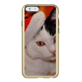 Weihnachtsmann-Katze - frohe Weihnachten - pet Incipio Feather® Shine iPhone 6 Hülle