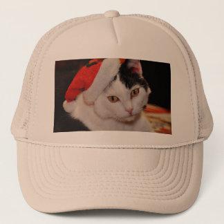 Weihnachtsmann-Katze - frohe Weihnachten - pet Truckerkappe