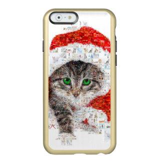 Weihnachtsmann-Katze - Katzencollage - Kitty - Incipio Feather® Shine iPhone 6 Hülle