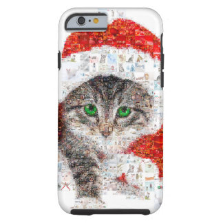 Weihnachtsmann-Katze - Katzencollage - Kitty - Tough iPhone 6 Hülle