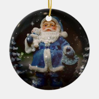 Weihnachtsmann Keramik Ornament