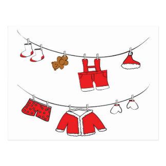 Weihnachtsmann kleidet Karte