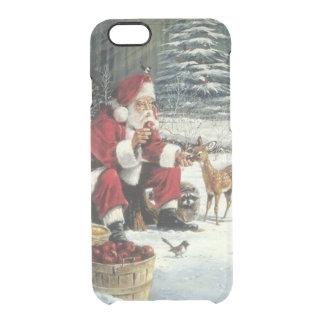 Weihnachtsmann-Malerei - Weihnachtskunst Durchsichtige iPhone 6/6S Hülle