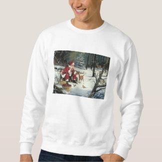 Weihnachtsmann-Malerei - Weihnachtskunst Sweatshirt