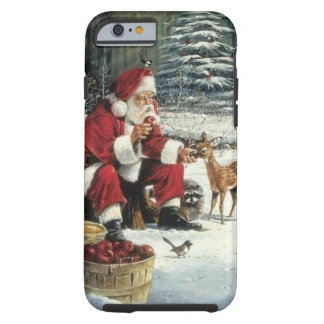 Weihnachtsmann-Malerei - Weihnachtskunst Tough iPhone 6 Hülle