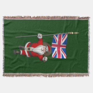 Weihnachtsmann mit Fahne Großbritanniens Decke