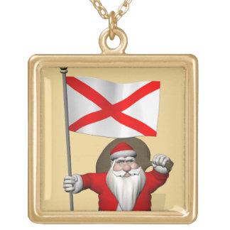 Weihnachtsmann mit Fahne von Alabama Vergoldete Kette