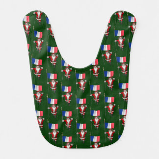 Weihnachtsmann mit Fahne von Frankreich Babylätzchen