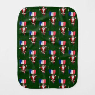 Weihnachtsmann mit Fahne von Frankreich Spucktuch