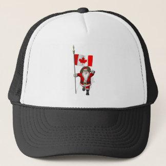 Weihnachtsmann mit Fahne von Kanada Truckerkappe