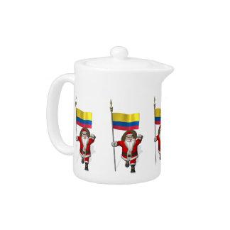 Weihnachtsmann mit Fahne von Kolumbien