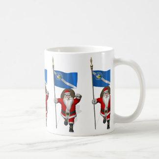 Weihnachtsmann mit Fahne von Las Vegas Kaffeetasse