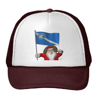 Weihnachtsmann mit Fahne von Las Vegas Trucker Kappe
