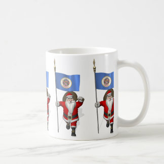 Weihnachtsmann mit Fahne von Minnesota Kaffeetasse