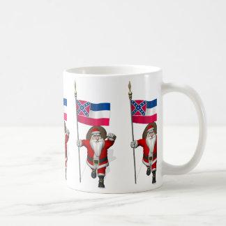 Weihnachtsmann mit Fahne von Mississippi Kaffeetasse