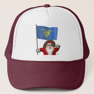 Weihnachtsmann mit Fahne von Oregon Truckerkappe