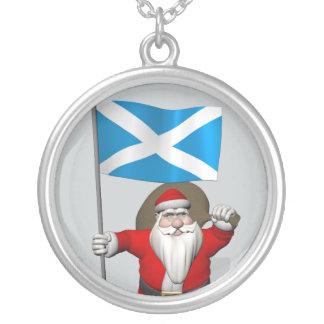 Weihnachtsmann mit Fahne von Schottland Versilberte Kette