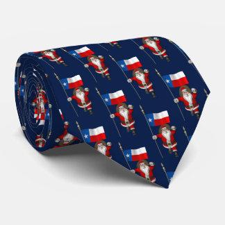 Weihnachtsmann mit Flagge von Texas Krawatte