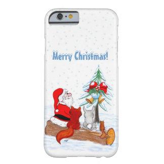 Weihnachtsmann mit KaninchenFox und Eichhörnchen Barely There iPhone 6 Hülle