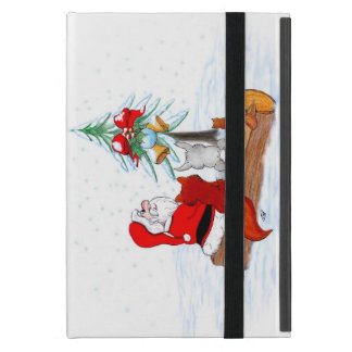 Weihnachtsmann mit KaninchenFox und Eichhörnchen iPad Mini Schutzhülle