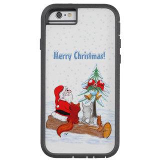 Weihnachtsmann mit KaninchenFox und Eichhörnchen Tough Xtreme iPhone 6 Hülle