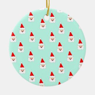 Weihnachtsmann-Mustermitte des Keramik Ornament
