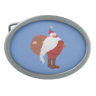 Weihnachtsmann Nikolaus Weihnachtsmann Ovale Gürtelschnallen