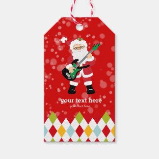 Weihnachtsmann-Party * wählen Sie Hintergrundfarbe Geschenkanhänger