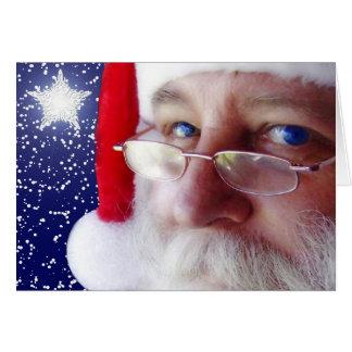 Weihnachtsmann passt Sie auf Karte