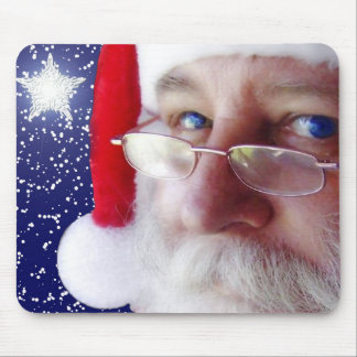 Weihnachtsmann passt Sie auf Mauspads