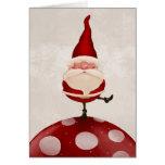 Weihnachtsmann-Pilz Karten
