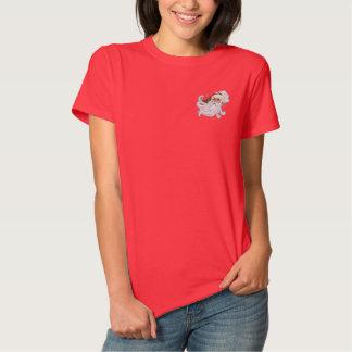 Weihnachtsmann-Porträt Besticktes T-Shirt