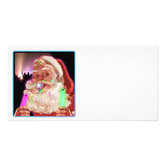 Weihnachtsmann-Rave-lustiger Sanktraver kein Text Foto Karte