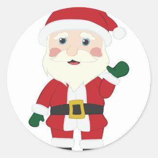 Weihnachtsmann Runder Aufkleber